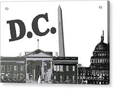 Dc On Edge Acrylic Print