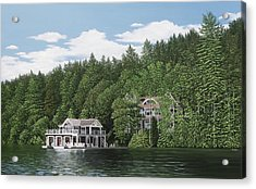 Acrylic Print featuring the painting De Groote Summer Home Muskoka by Kenneth M Kirsch