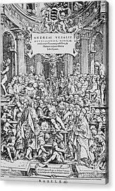 De Humani Corporis Fabrica, Vesalius Acrylic Print