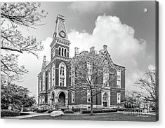De Pauw University East College Acrylic Print by University Icons