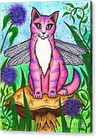 Dea Dragonfly Fairy Cat Acrylic Print