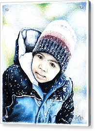 Deacon In The Snow Acrylic Print