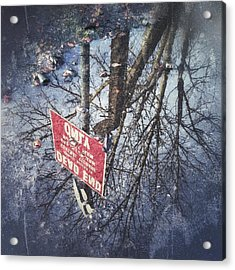 Dead End Acrylic Print by RKAB Works