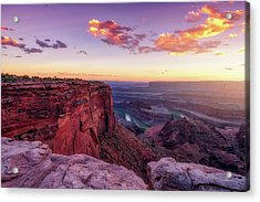 Acrylic Print featuring the photograph Dead Horse Point Sunset by Darren White