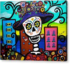 Acrylic Print featuring the painting Dead In The City by Pristine Cartera Turkus