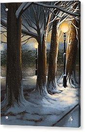Dead Of Night Acrylic Print by Veronica Minozzi