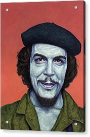 Dead Red - Che Acrylic Print by James W Johnson