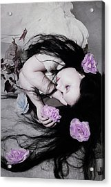 Dead Roses Acrylic Print by Cambion Art