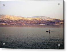 Dead Sea Sojourn Acrylic Print by Deb Cohen