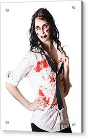 Dead Sexy Businesswoman Acrylic Print by Jorgo Photography - Wall Art Gallery