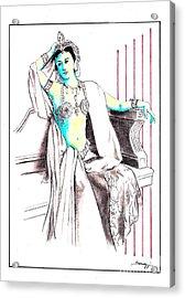 Deadly Diva, Mata Hari -- Portrait Acrylic Print