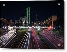 Dealey Plaza Dallas At Night Acrylic Print