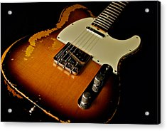 Dean Deleo - 1967 Fender Telecaster Acrylic Print by Lisa Johnson