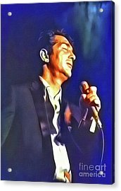 Dean Martin, Hollywood Legend. Digital Art By Mb Acrylic Print by Mary Bassett