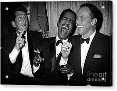 Dean Martin, Sammy Davis Jr. And Frank Sinatra Laughing Acrylic Print