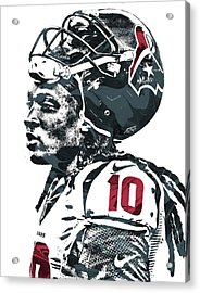 Deandre Hopkins Houston Texans Pixel Art 2 Acrylic Print by Joe Hamilton