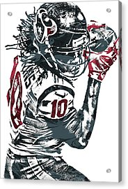 Deandre Hopkins Houston Texans Pixel Art Acrylic Print by Joe Hamilton