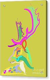 Acrylic Print featuring the painting Dear Deer by Go Van Kampen