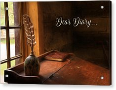 Dear Diary Acrylic Print by Lori Deiter
