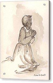 Dear God... Acrylic Print by Barbel Amos