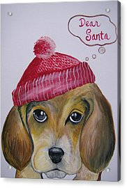 Acrylic Print featuring the painting Dear Santa by Leslie Manley