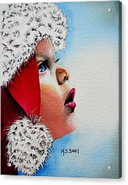 Dear Santa Acrylic Print by Maria Barry