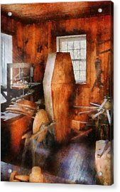 Death - The Coffin Maker Acrylic Print by Mike Savad