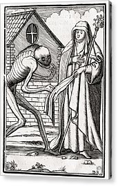 Death Comes To The Abbess From Der Acrylic Print by Vintage Design Pics