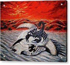 Death Dealer Scorpion Acrylic Print