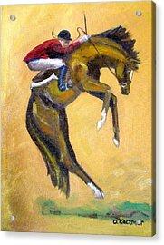 Death Defying Ride Acrylic Print by Olga Kaczmar