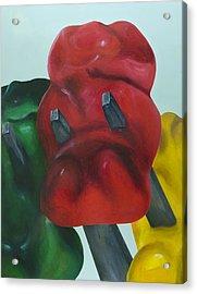 Death Of A Gummy Bear I Acrylic Print by Josh Bernstein