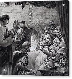 Death Of Edward The Confessor  Acrylic Print
