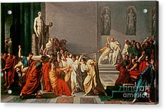 Death Of Julius Caesar Acrylic Print by Vincenzo Camuccini