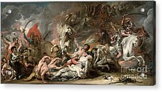 Death On The Pale Horse Acrylic Print by Benjamin West