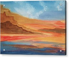 Acrylic Print featuring the painting Death Valley by Ellen Levinson