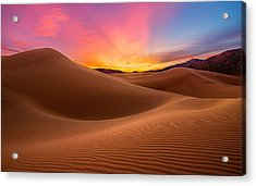 Death Valley Acrylic Print by Lincoln Harrison