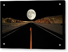 Death Valley Moon Rise Acrylic Print