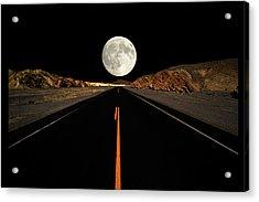 Death Valley Moon Rise Acrylic Print
