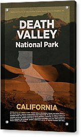 Death Valley National Park In California Travel Poster Series Of National Parks Number 13 Acrylic Print