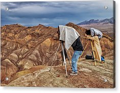 Acrylic Print featuring the photograph Death Valley Photographers by Jim Dollar