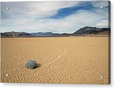 Acrylic Print featuring the photograph Death Valley Ractrack by Breck Bartholomew