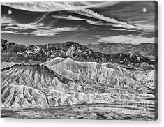 Deathvalley Cracks And Ridges Acrylic Print