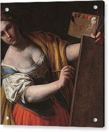 Deatil Of An Allegory Of Painting Acrylic Print