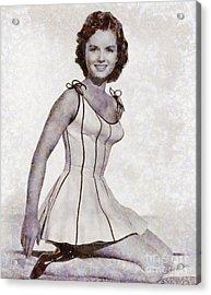 Debbie Reynolds, Vintage Actress By Sarah Kirk Acrylic Print by Sarah Kirk