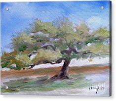 Deborah's Tree Acrylic Print by Sally Simon
