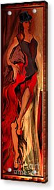 Debut In Red Acrylic Print by Anne Weirich