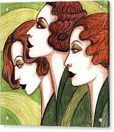 Debutante Trio Acrylic Print