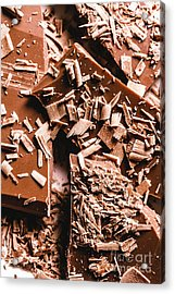 Decadent Chocolate Background Texture Acrylic Print