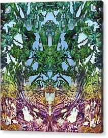 Decalcomaniac Play I Acrylic Print by Otto Rapp