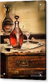Decanter And Glass Acrylic Print by Jill Battaglia